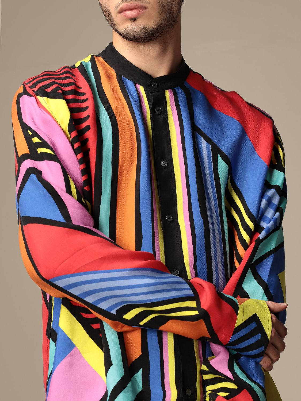 Shirt Balmain: Guru Balmain shirt with abstract pattern multicolor 5