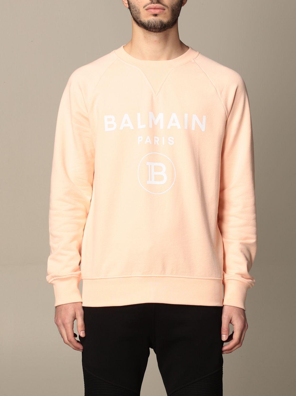 Sweatshirt Balmain: Sweatshirt homme Balmain orange 1