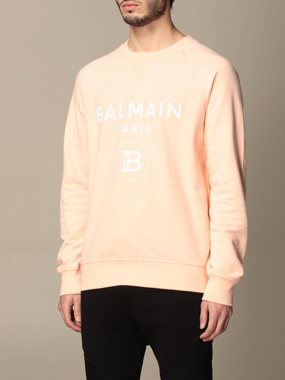 Sweatshirt Balmain: Sweatshirt homme Balmain orange 4