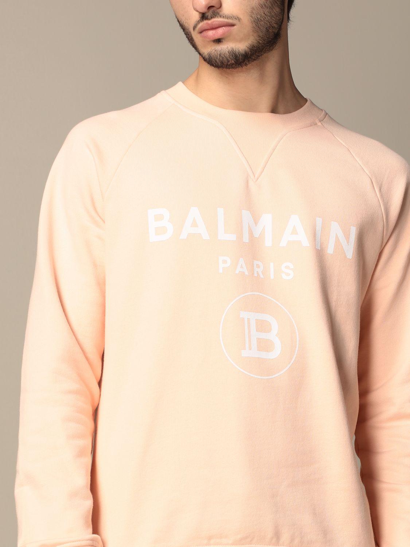 Sweatshirt Balmain: Sweatshirt homme Balmain orange 5