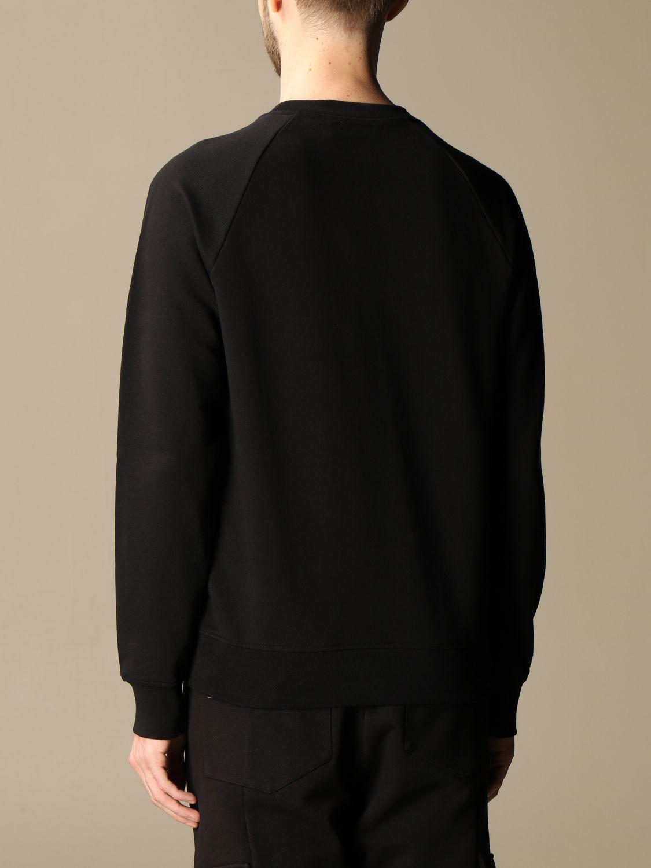 Sweatshirt Balmain: Balmain crewneck sweatshirt in cotton with flocked logo black 3
