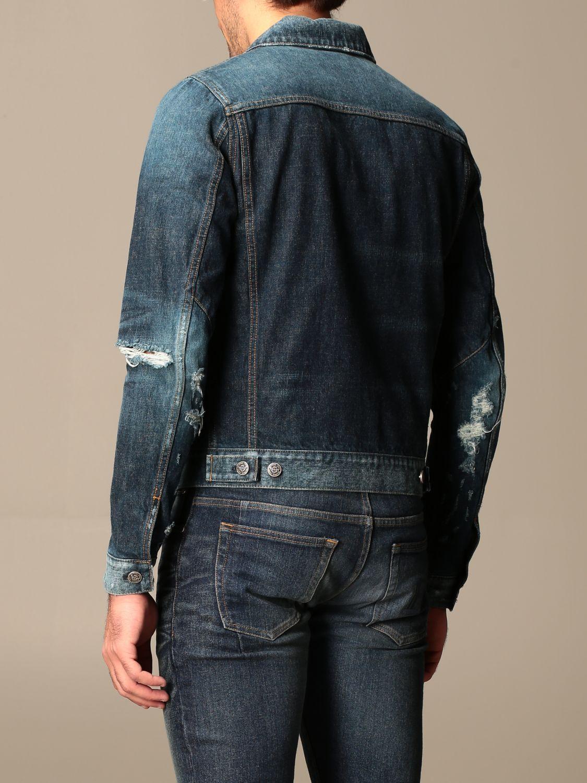 Jacket Balmain: Balmain denim jacket with zip blue 3