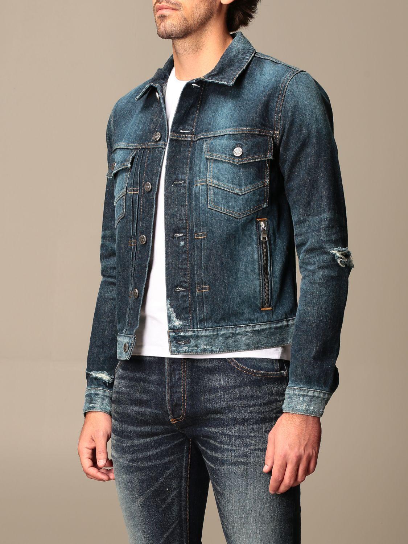 Jacket Balmain: Balmain denim jacket with zip blue 4