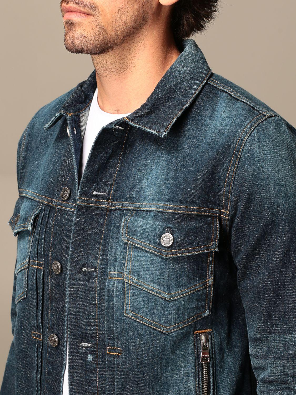 Jacket Balmain: Balmain denim jacket with zip blue 5