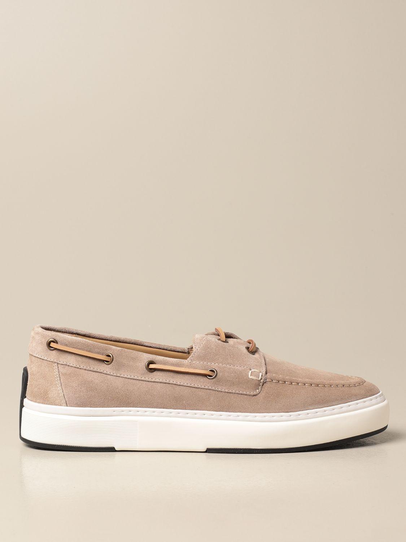 Mocassini Brimarts: Sneakers Brimarts in pelle scamosciata beige 1