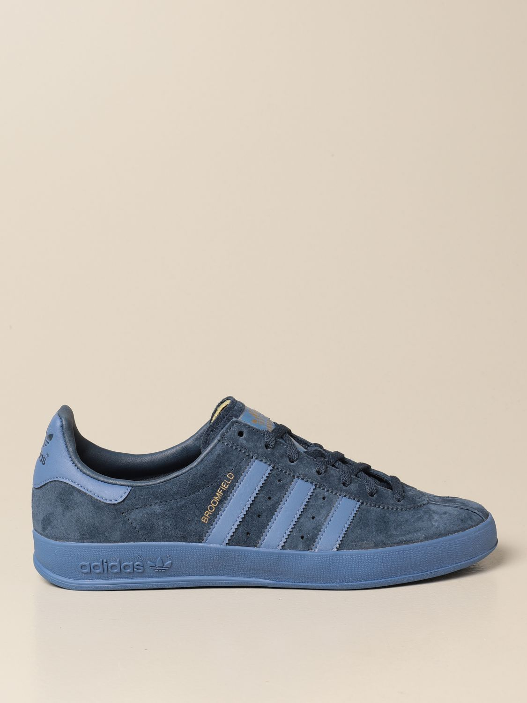 Sneakers Adidas Originals: Sneakers Broomfield Adidas Originals in camoscio e pelle sintetica blue 1