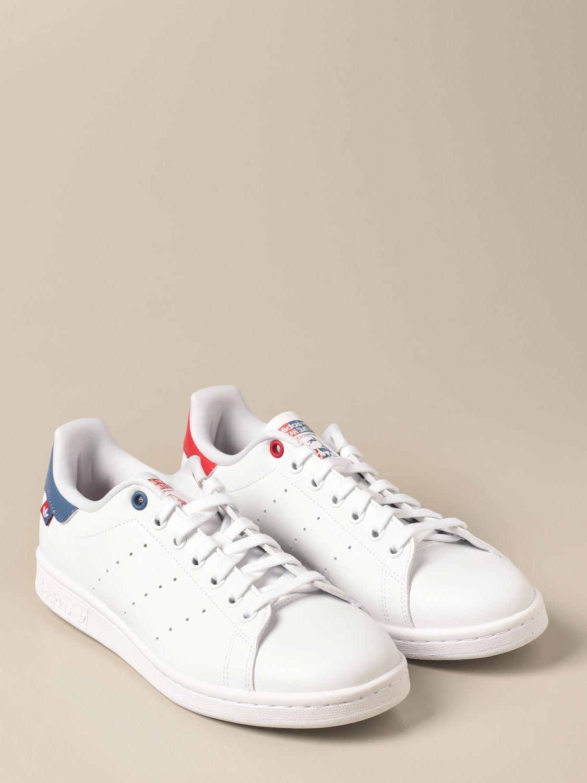 Sneakers Adidas Originals: Sneakers Stan Smith Adidas Originals in pelle sintetica bianco 2