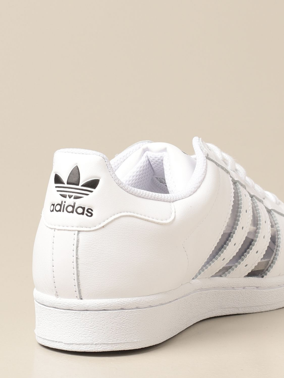 Trainers Adidas Originals: Adidas Originals Superstar sneakers in leather and pvc white 3