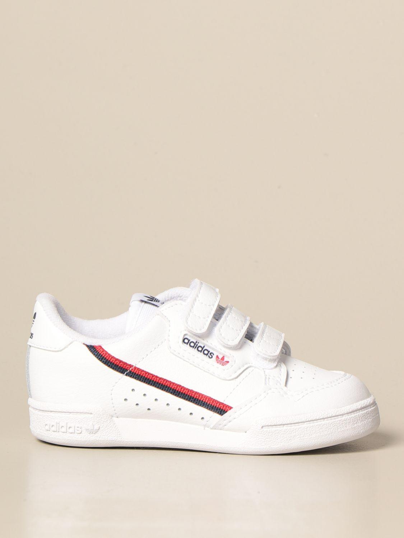 Scarpe Adidas Originals: Sneakers Continental 80 cf Adidas Originals in pelle bianco 1