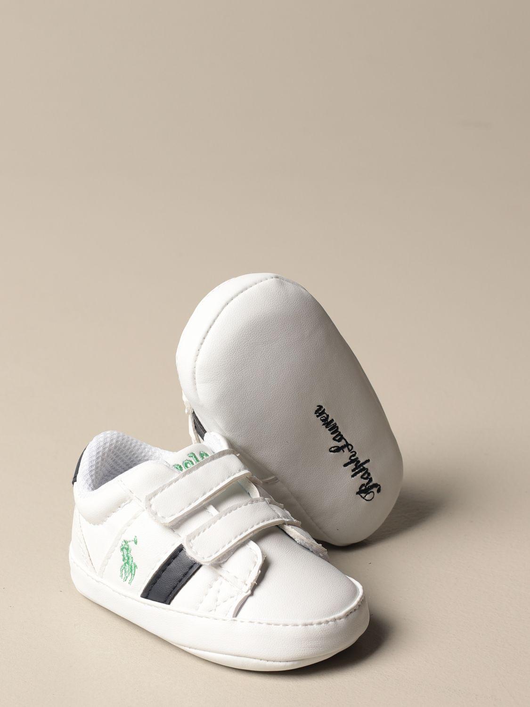 Zapatos Polo Ralph Lauren: Zapatos niños Polo Ralph Lauren blanco 2