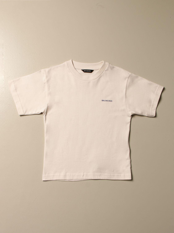 Camiseta Balenciaga: Camiseta niños Balenciaga blanco 1