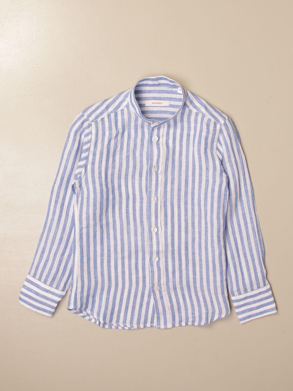 Chemise Baronio: Chemise enfant Baronio bleu 1