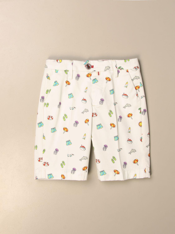 Pantalón corto Baronio: Pantalón corto niños Baronio blanco 1
