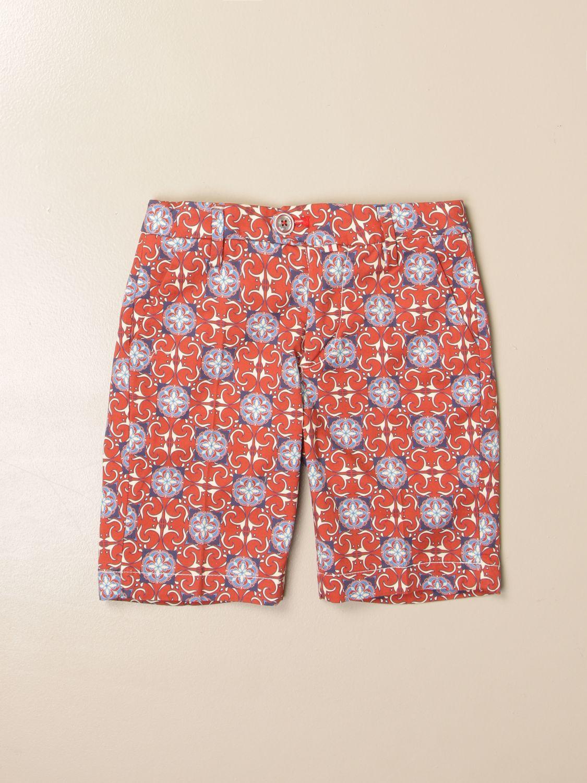 Pantalón corto Baronio: Pantalón corto niños Baronio color óxido 1