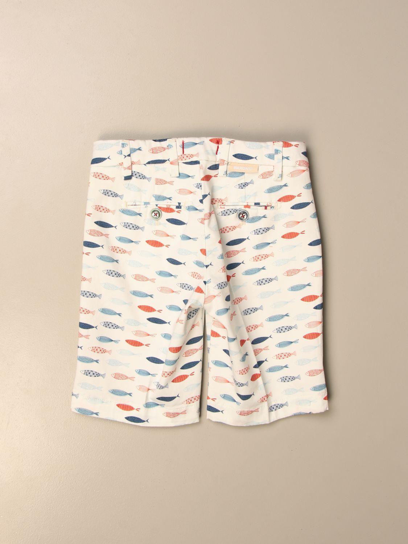 Pantalón corto Baronio: Pantalón corto niños Baronio blanco 2