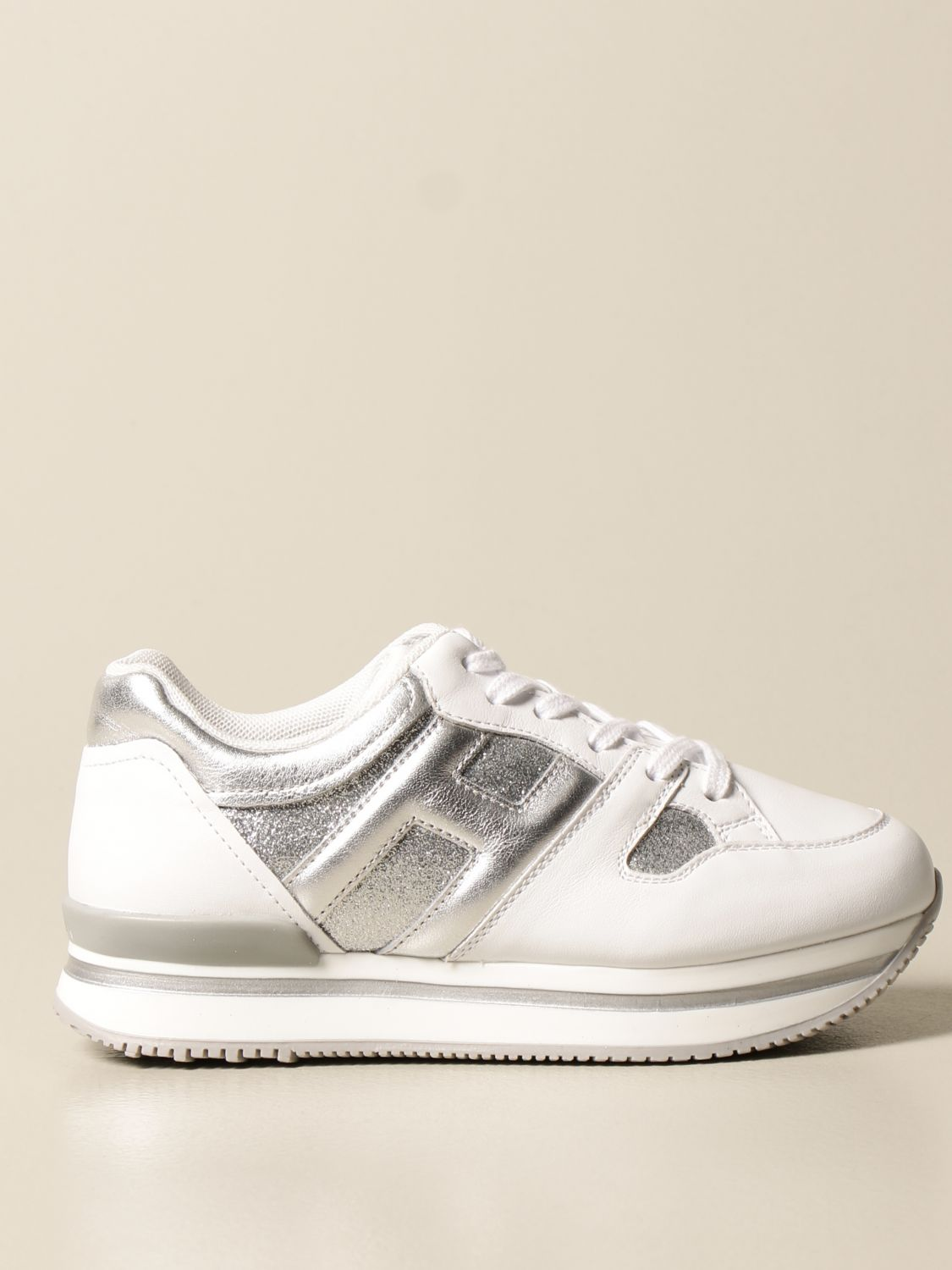 Maxi platform H222 Hogan sneakers in leather