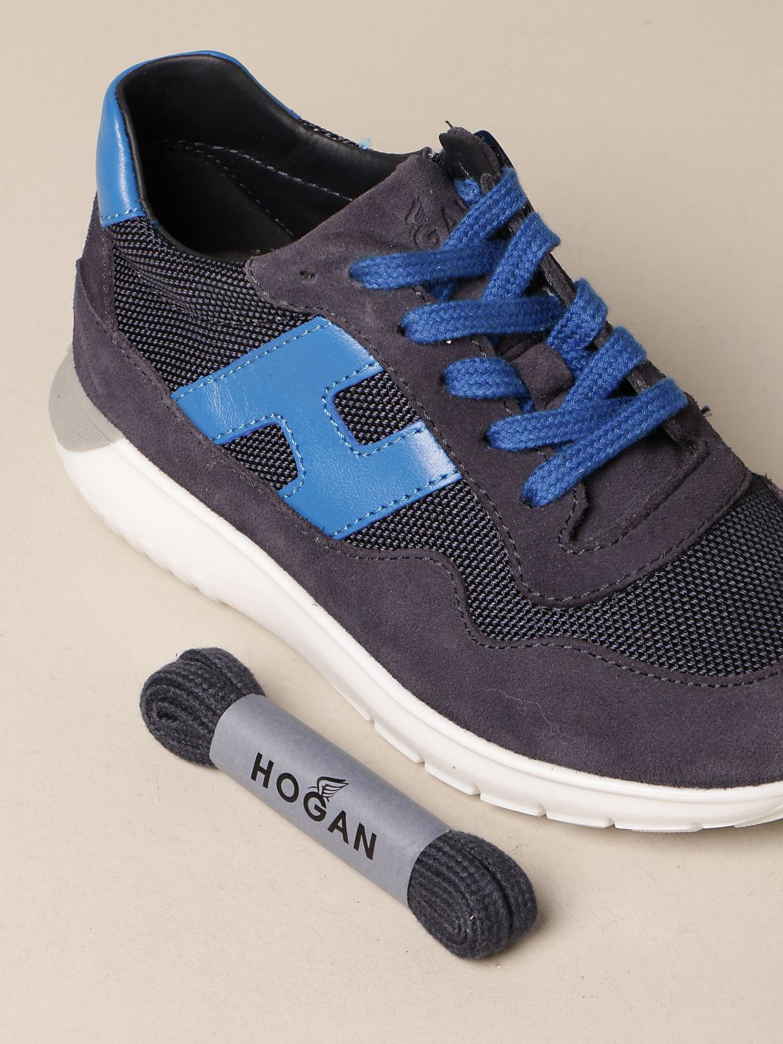Interactive 3 Hogan sneakers in fabric and suede