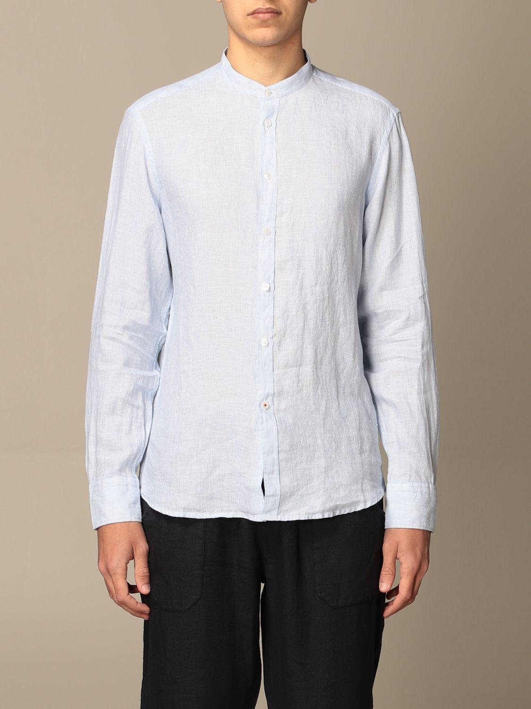 Shirt Baronio: Shirt men Baronio gnawed blue 1