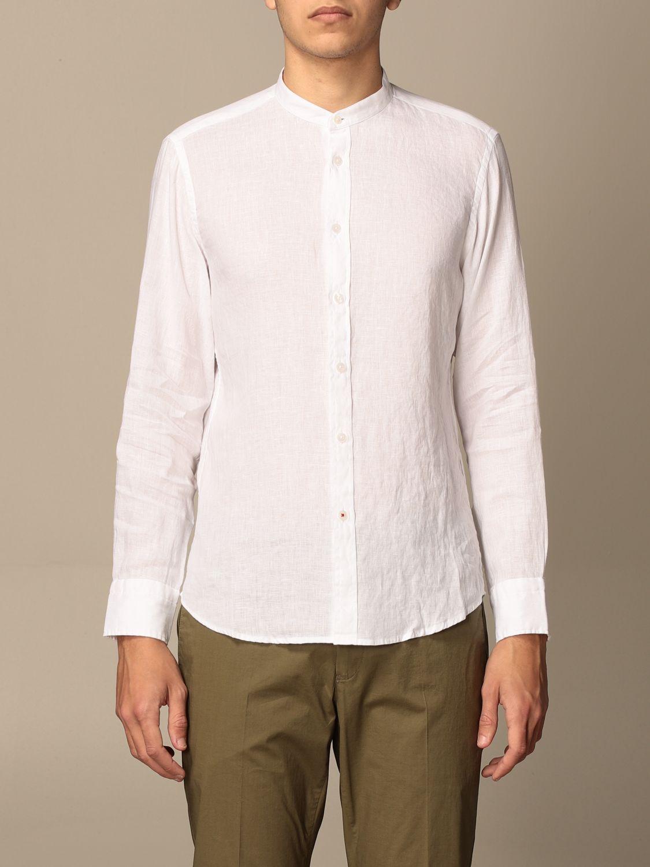 Shirt Baronio: Baronio Korean shirt in linen white 1