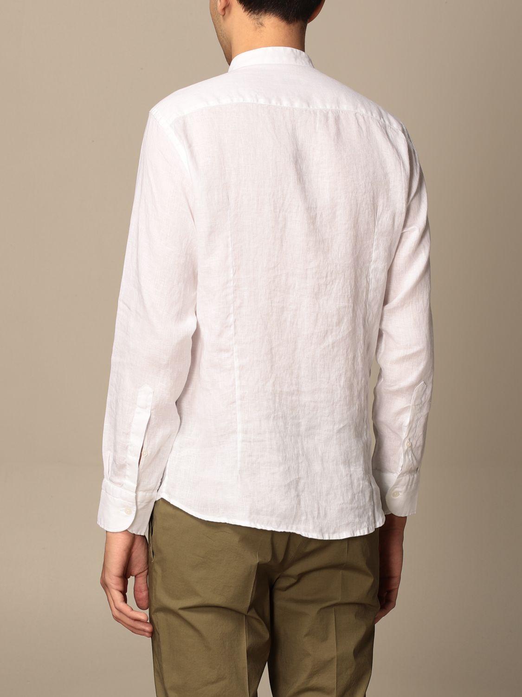 Shirt Baronio: Baronio Korean shirt in linen white 2