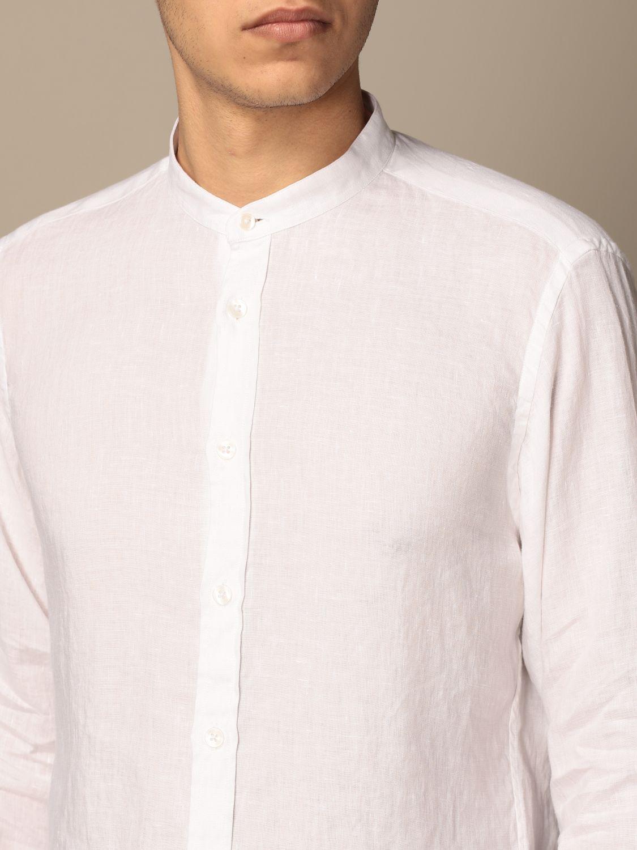 Shirt Baronio: Baronio Korean shirt in linen white 3