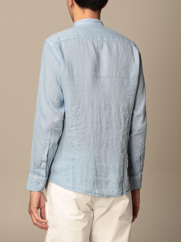 Shirt Baronio: Shirt men Baronio gnawed blue 2