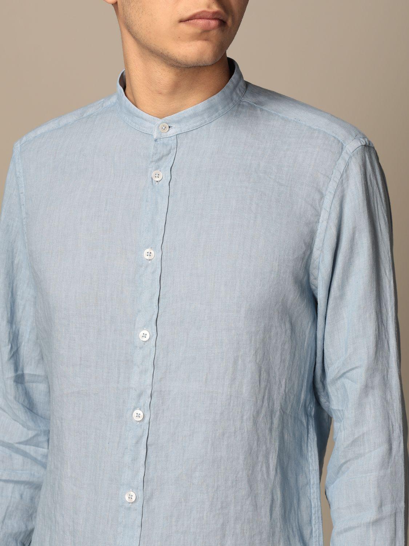 Shirt Baronio: Shirt men Baronio gnawed blue 3