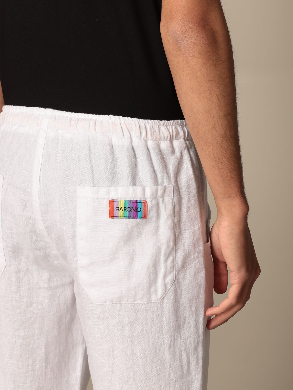 Trousers Baronio: Trousers men Baronio white 4