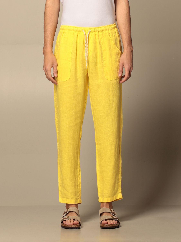 Pants Baronio: Pants men Baronio yellow 1