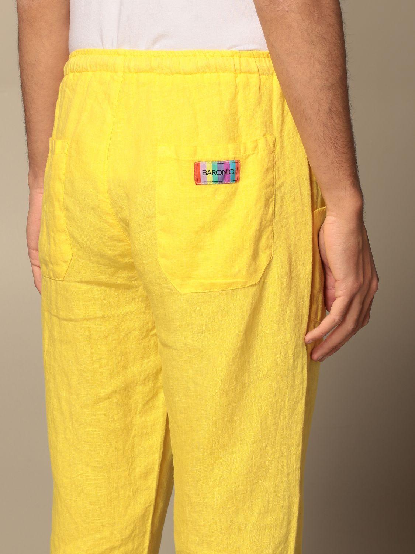 Pants Baronio: Pants men Baronio yellow 3