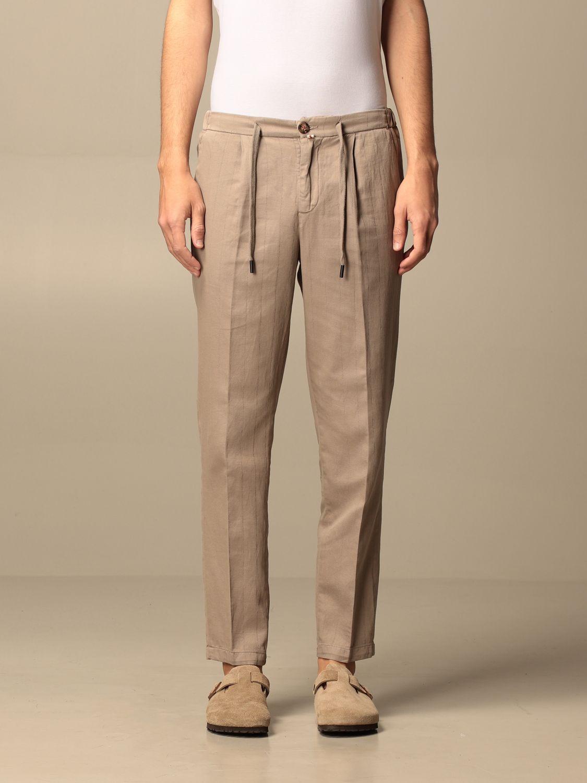 Trousers Baronio: Trousers men Baronio beige 1