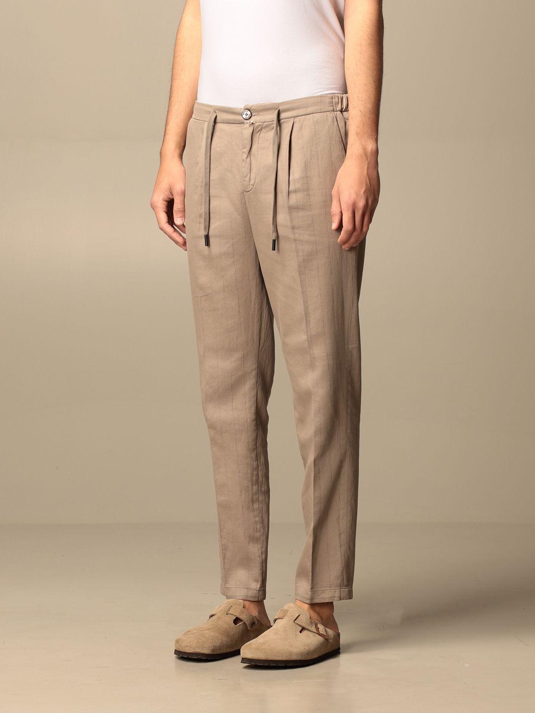 Trousers Baronio: Trousers men Baronio beige 3