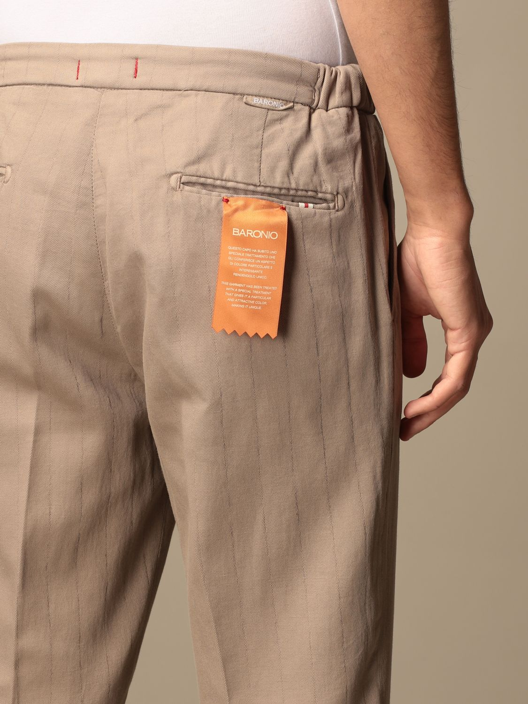 Trousers Baronio: Trousers men Baronio beige 4