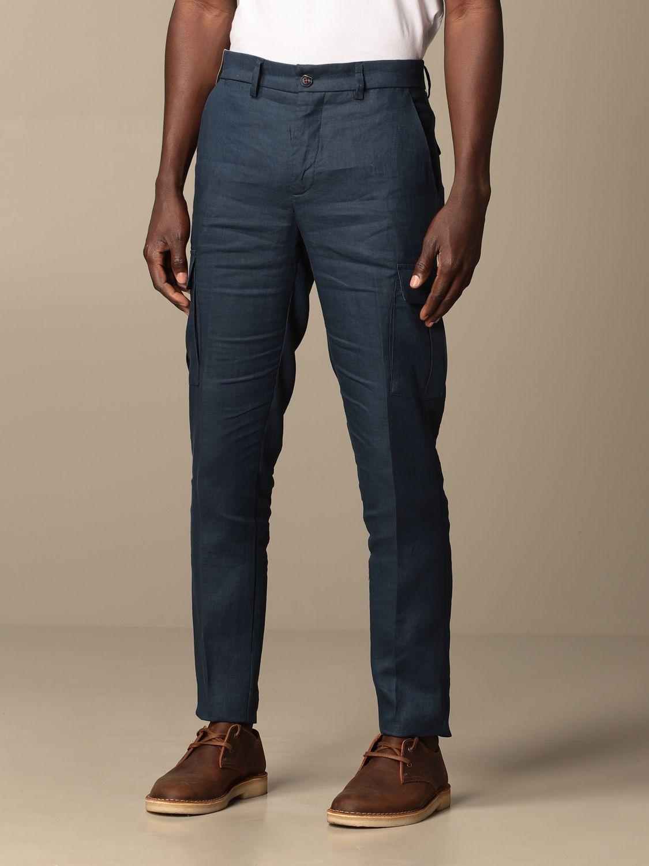 Pants Baronio: Pants men Baronio navy 3