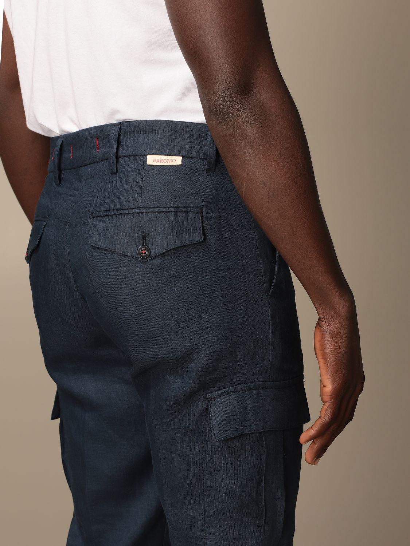 Pants Baronio: Pants men Baronio navy 4