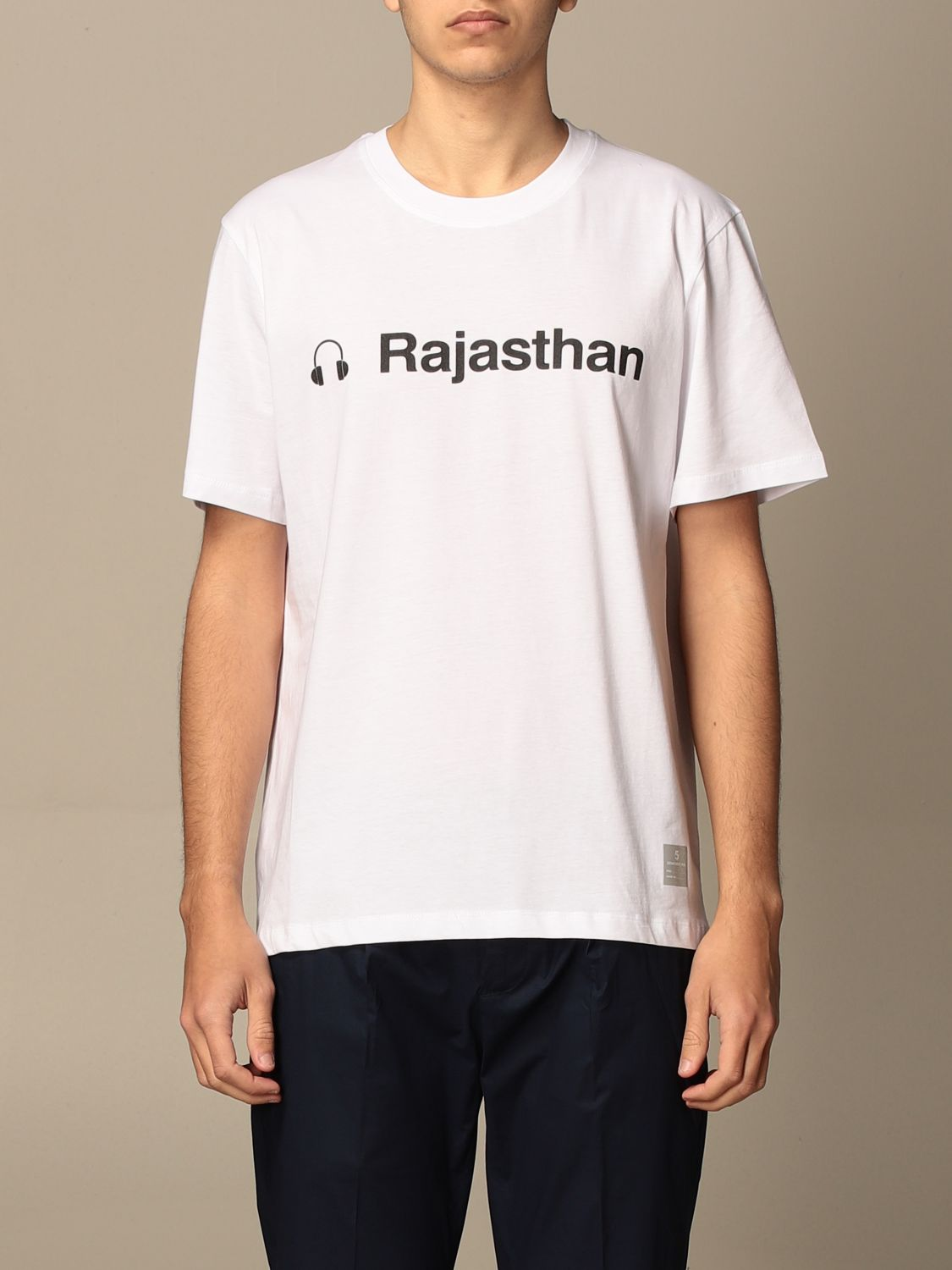 T-shirt Department 5: T-shirt Department Five in cotone con stampa Rajasthan bianco 1