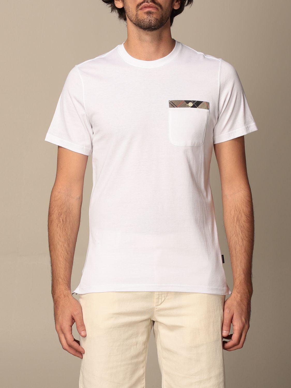 T-shirt Barbour: T-shirt men Barbour white 1