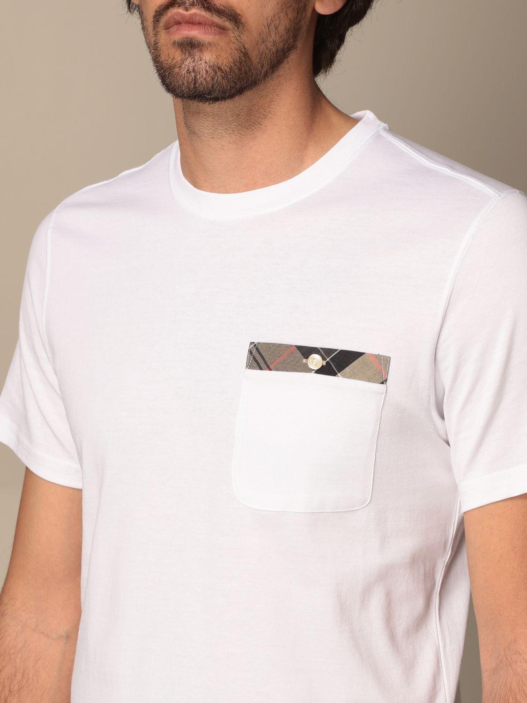 T-shirt Barbour: T-shirt men Barbour white 3