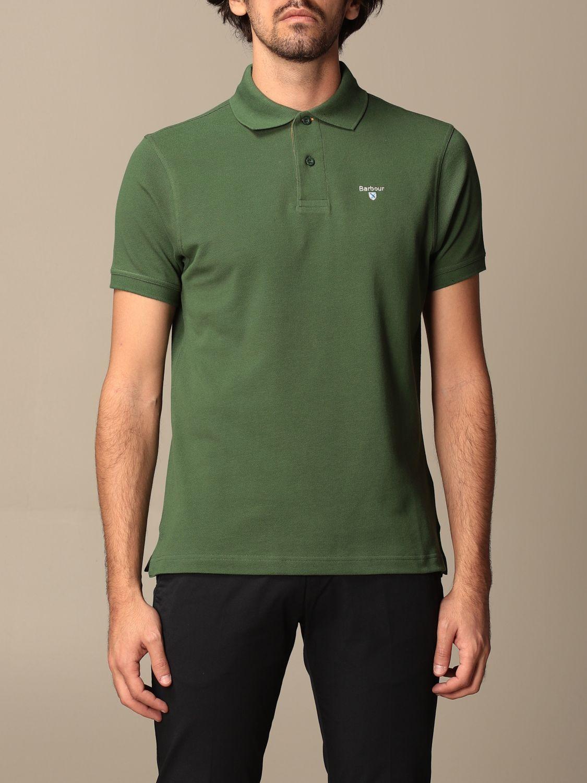 Polo shirt Barbour: Barbour polo shirt in pique cotton with logo green 1