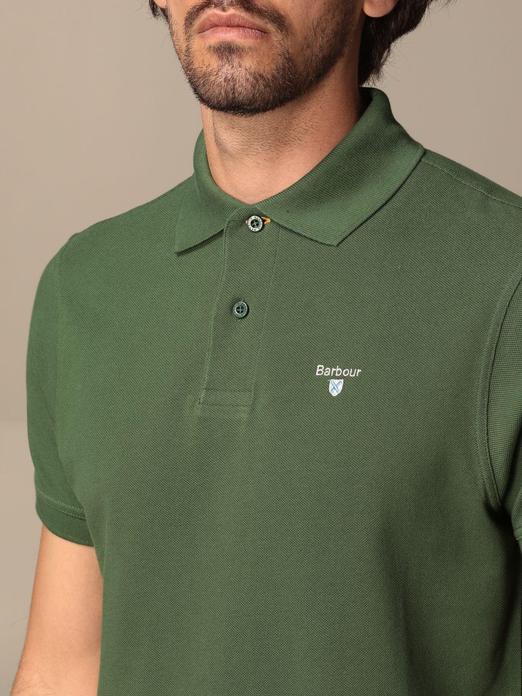 Polo shirt Barbour: Barbour polo shirt in pique cotton with logo green 3