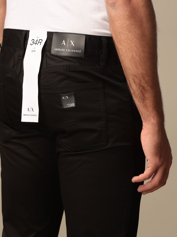 Pants Armani Exchange: Armani Exchange 5-pocket trousers black 3