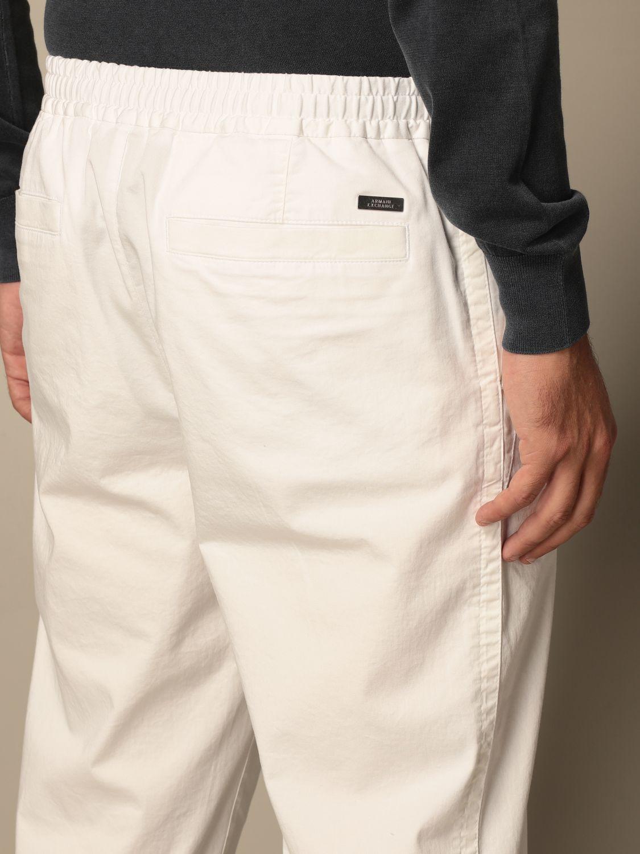 Trousers Armani Exchange: Trousers men Armani Exchange white 4