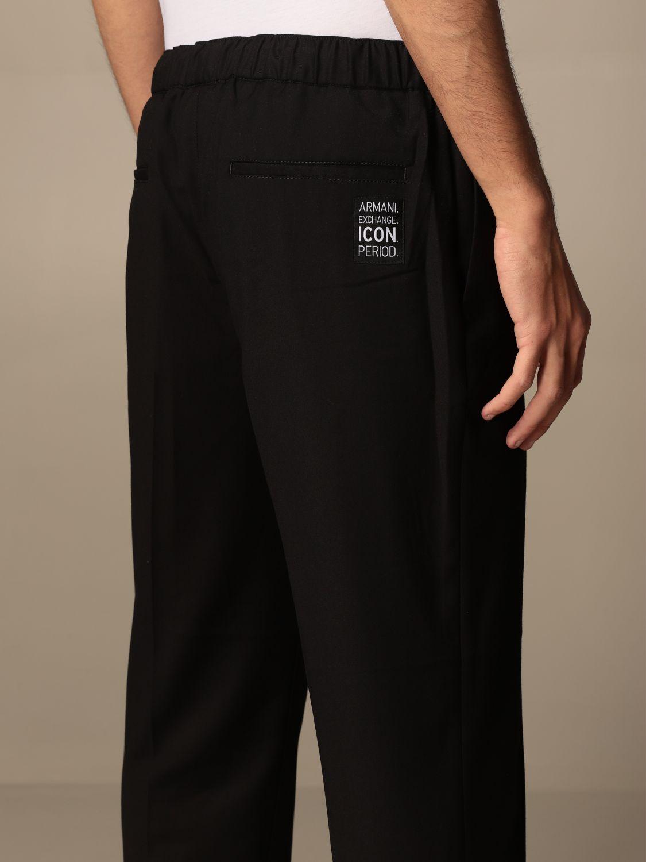 Trousers Armani Exchange: Trousers men Armani Exchange black 5