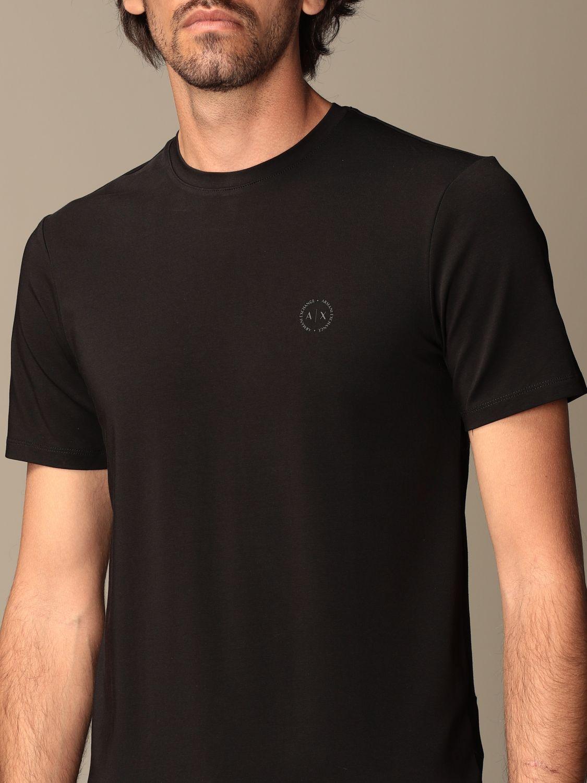 T-shirt Armani Exchange: T-shirt Armani Exchange con logo nero 3