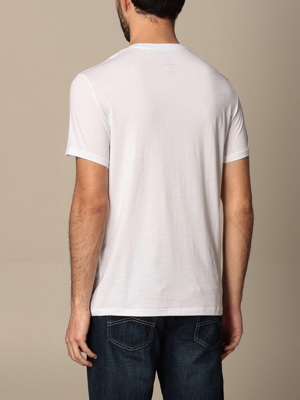 T-shirt Armani Exchange: T-shirt basic Armani Exchange in cotone bianco 2
