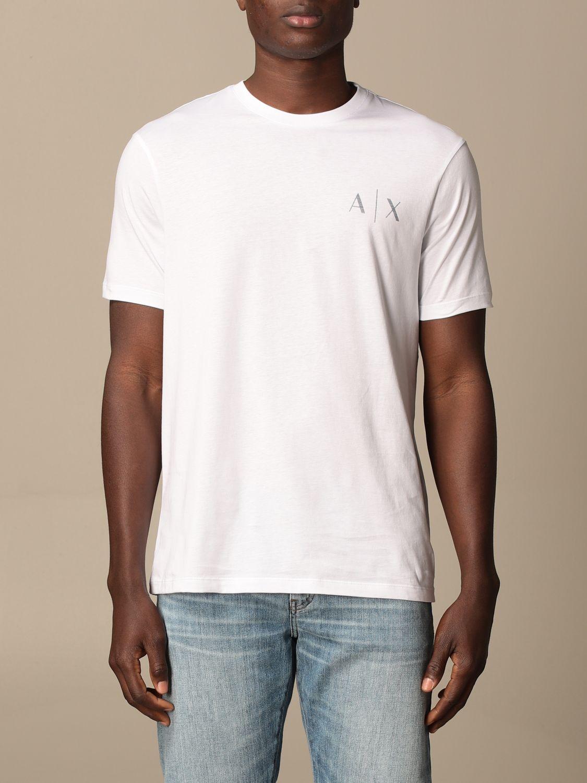 T-shirt Armani Exchange: T-shirt Armani Exchange con logo bianco 1