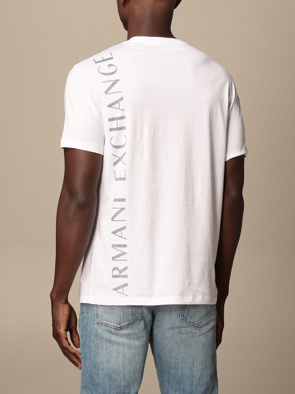 T-shirt Armani Exchange: T-shirt Armani Exchange con logo bianco 2