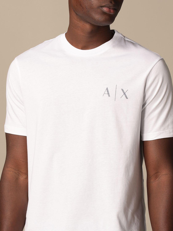 T-shirt Armani Exchange: T-shirt Armani Exchange con logo bianco 3