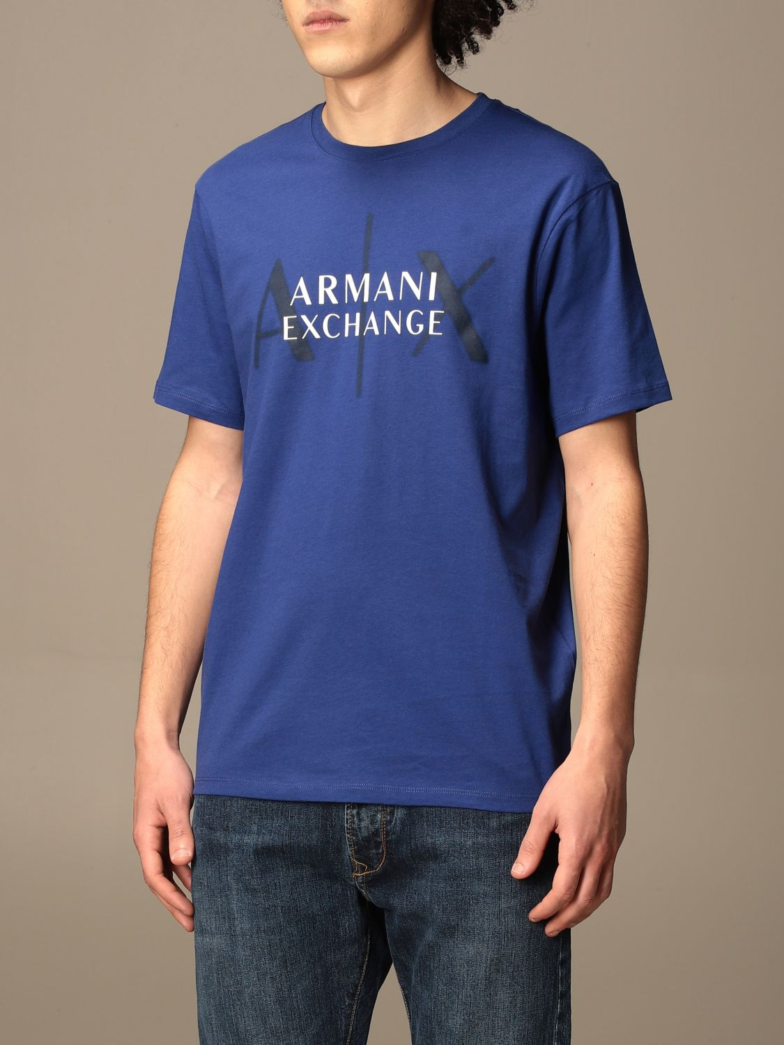 T-shirt Armani Exchange: T-shirt men Armani Exchange royal blue 3