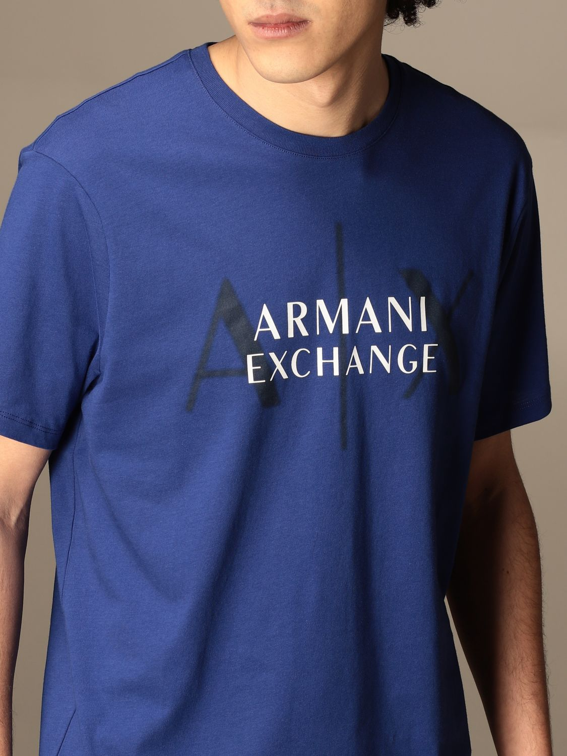 T-shirt Armani Exchange: T-shirt men Armani Exchange royal blue 4